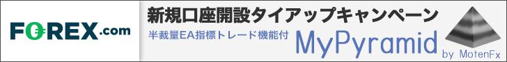 FOREX.com×タイアップキャンペーン☆MyPyramid指標発表トレード機能付☆プレゼント!