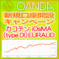 OANDA JAPANタイアップキャンペーン カコテン iOsMA (type DI) EURAUDプレゼント!