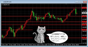 ドル円、ムーディーズの日本国債格下げを受け乱高下:ドル円は数分間で約1円の乱高下をしたけど、結局118円と119円の間で落ち着いてる