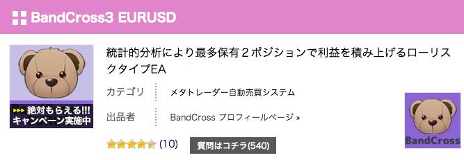 BandCross3 EURUSD